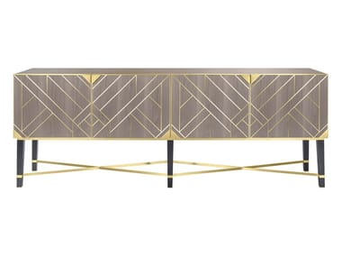 Wooden sideboard with doors SIRMIONE | Sideboard