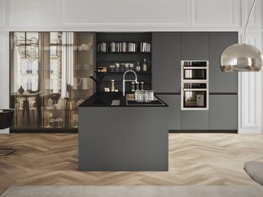 Cucina laccata in legno e vetro con penisola SISTEMA 22 - AMBIENTE 13