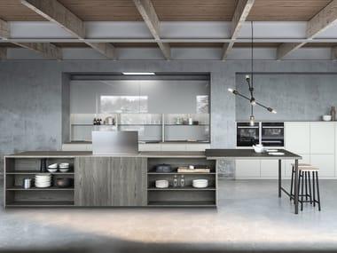 Cucina laccata con isola SISTEMA 22.2 - AMBIENTE 03