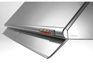 Slide-out stainless steel cooker hood SEA