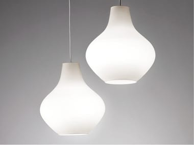 LED opal glass pendant lamp SIXTIES