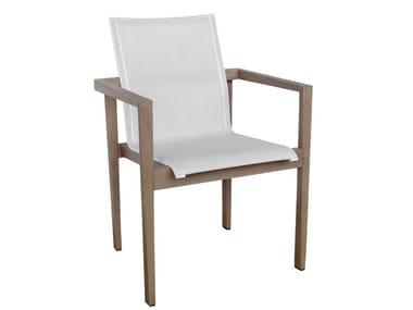 Sedia da giardino impilabile in Batyline® con braccioli SKAAL | Sedia con braccioli