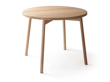 Round solid wood table SKANDI | Round table