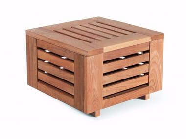 Square teak garden side table SKANÖR | Side table