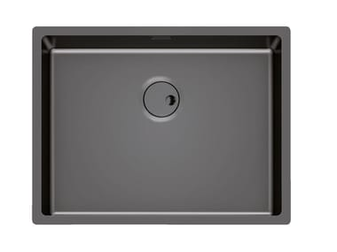 Single built-in sink SKIN 53X40 R12 FT GUNMETAL