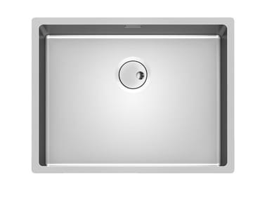 Single undermount stainless steel sink SKIN 53X40 R12 S/TOP