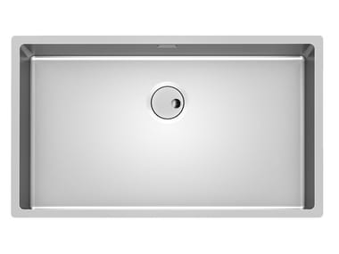 Single undermount stainless steel sink SKIN 71X40 R12 S/TOP