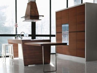 Wooden kitchen with island SKIN
