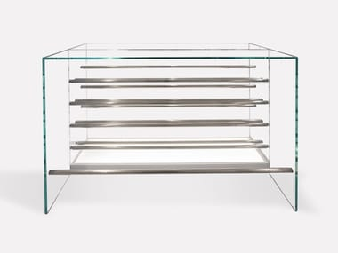 Glass bar cabinet SKY | Bar cabinet
