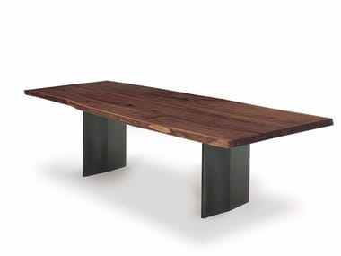 Rectangular solid wood table SKY PLANK