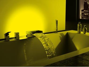 LED bathtub set with hand shower SKYLINE AMBIENT | Bathtub set