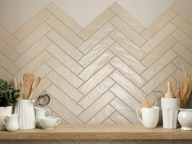 Porcelain stoneware wall tiles with brick effect SKYLINE
