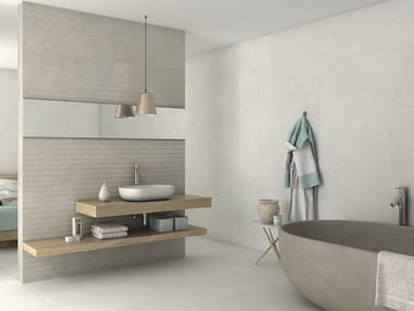 Porcelain stoneware wall/floor tiles with concrete effect SLABS - INSTINTO