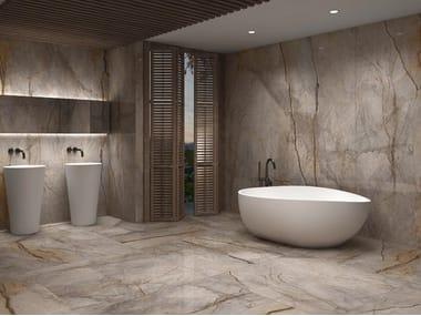 Pavimento/rivestimento in gres porcellanato effetto marmo SLABS - WILD FOREST