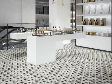 Porcelain stoneware flooring with marble effect SLABS - WILD FOREST DECOR