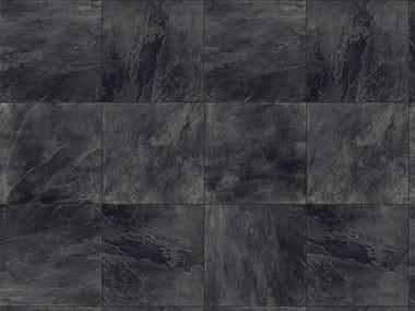 Porcelain stoneware outdoor floor tiles with stone effect SLATE BLACK 3 CM