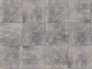 Porcelain stoneware outdoor floor tiles with stone effect SLATE GREY 3 CM
