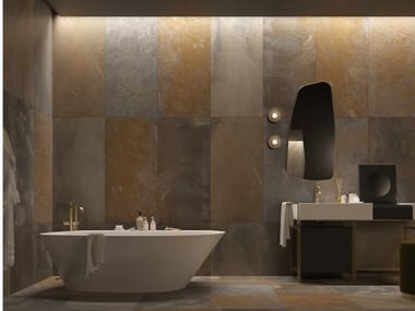 Porcelain stoneware wall/floor tiles with stone effect SLATE