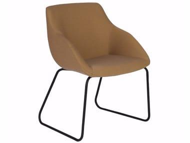Gepolsterter Stuhl aus Stoff mit Kufengestell BLUE CONFERENCE - SLED