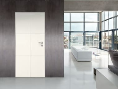 Safety door with concealed hinges SLEEK
