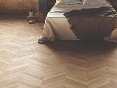 Porcelain stoneware wall/floor tiles with wood effect SLEEK WOOD BEIGE