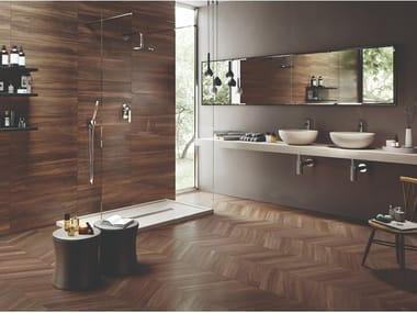 Porcelain stoneware wall/floor tiles with wood effect SLEEK WOOD NUT