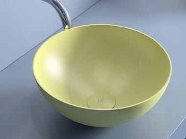 Countertop round Vetro Freddo® washbasin SLIDE | Round washbasin