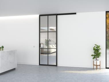 Glass and aluminium sliding door SLIDEWAYS 5730 - SINGLE DOOR