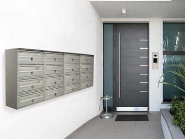 Wall-mounted magazine size outdoor mailbox SLIM | Wall-mounted mailbox