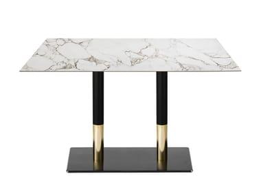 Tavolo da pranzo rettangolare in ferro SLIM-BI | Tavolo rettangolare