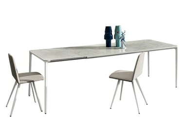 Extending ceramic table SLIM EXTENSIBLE | Ceramic table
