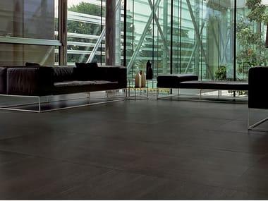Laminated stoneware wall/floor tiles SLIMTECH BASALTINA STONE PROJECT LAPPATA