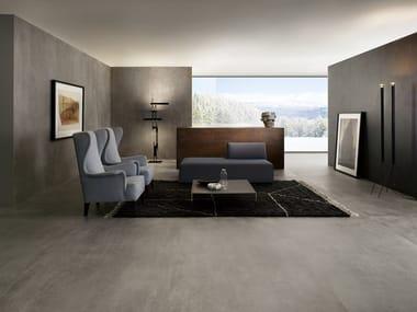 Porcelain stoneware wall/floor tiles with concrete effect SLIMTECH CONCRETO MEDIUM