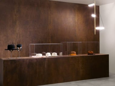 Porcelain stoneware wall/floor tiles with concrete effect SLIMTECH CONCRETO RUST