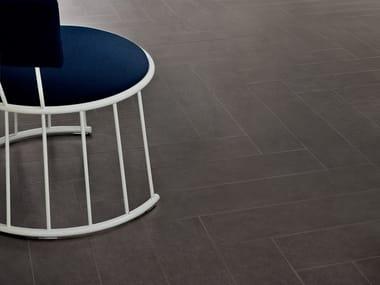 Laminated stoneware wall/floor tiles SLIMTECH GOUACHE.10 BLACK STONE