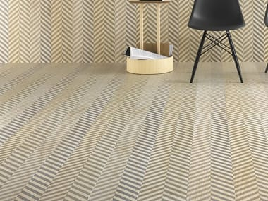 Laminated stoneware wall/floor tiles with wood effect SLIMTECH TYPE 32 SNOW