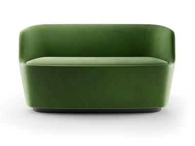 Leather or fabric small sofa ORLA | Small sofa