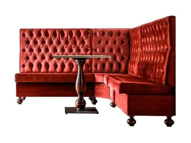 Tufted high-back fabric restaurant booth DRESSY | Small sofa
