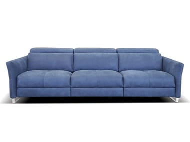 3 seater leather sofa with electric motion SMART | Sectional sofa