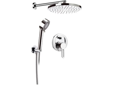 Shower mixer with hand shower with overhead shower SMART   Shower mixer with overhead shower