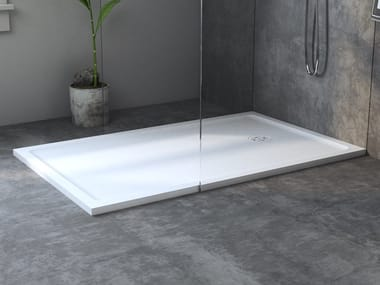 Rectangular extra flat Corian® shower tray SMART