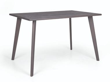 Rectangular wooden dining table SMILE 01 RECT