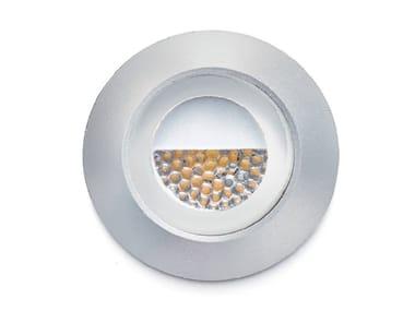 Segnapasso a LED a parete in alluminio anodizzato SMILE