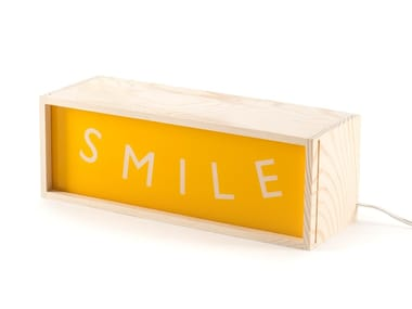 LED wooden table lamp SMILE