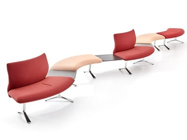 Sectional curved fabric sofa SNAKE