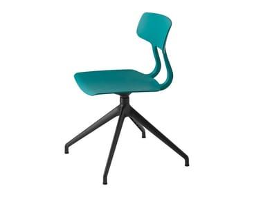 Swivel trestle-based polypropylene chair SNAP 1108