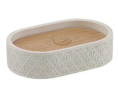 Countertop cement soap dish AFRODITE | Soap dish