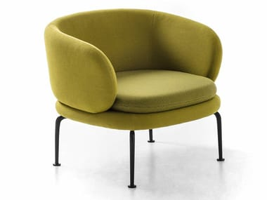 Fabric lobby chair SOAVE | Armchair with armrests