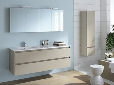 Lacquered single wall-mounted vanity unit SOBRO
