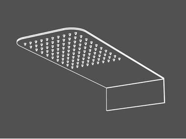 Tête de douche mural à effet pluie en acier inoxydable SOF5 | Tête de douche